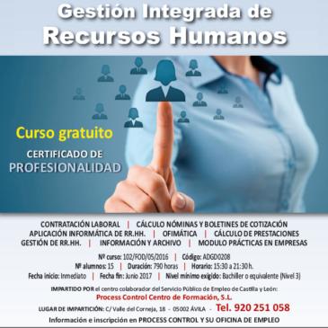 Certificado de profesionalidad de gestión  integrada de recursos humanos