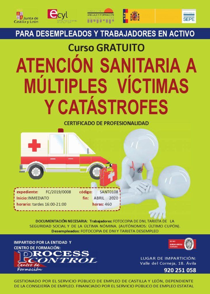 Curso atencion sanitaria victimas y catastrofes