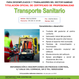 Transporte Sanitario - Certificado de Profesionalidad