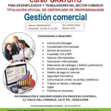 Gestión comercial (Certificado de Profesionalidad)
