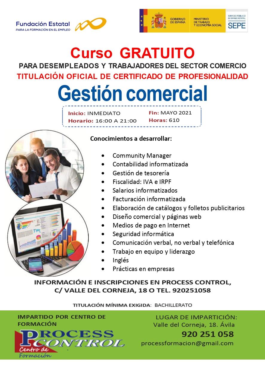 Gestión comercial-Certificado de profesionalidad