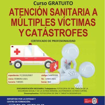 Atención sanitaria a múltiples víctimas y catástrofes (Certificado de profesionalidad)