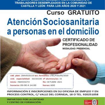 Atención sociosanitaria a personas en el domicilio (Certificado de profesionalidad)