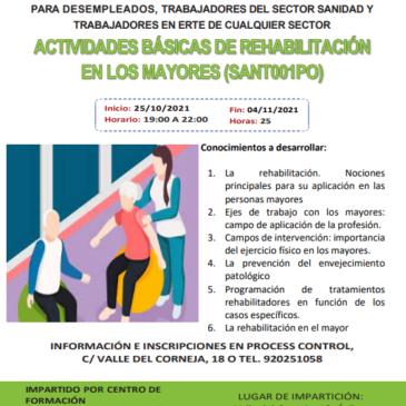 CURSO Actividades Básicas de Rehabilitación en los Mayores (25h)
